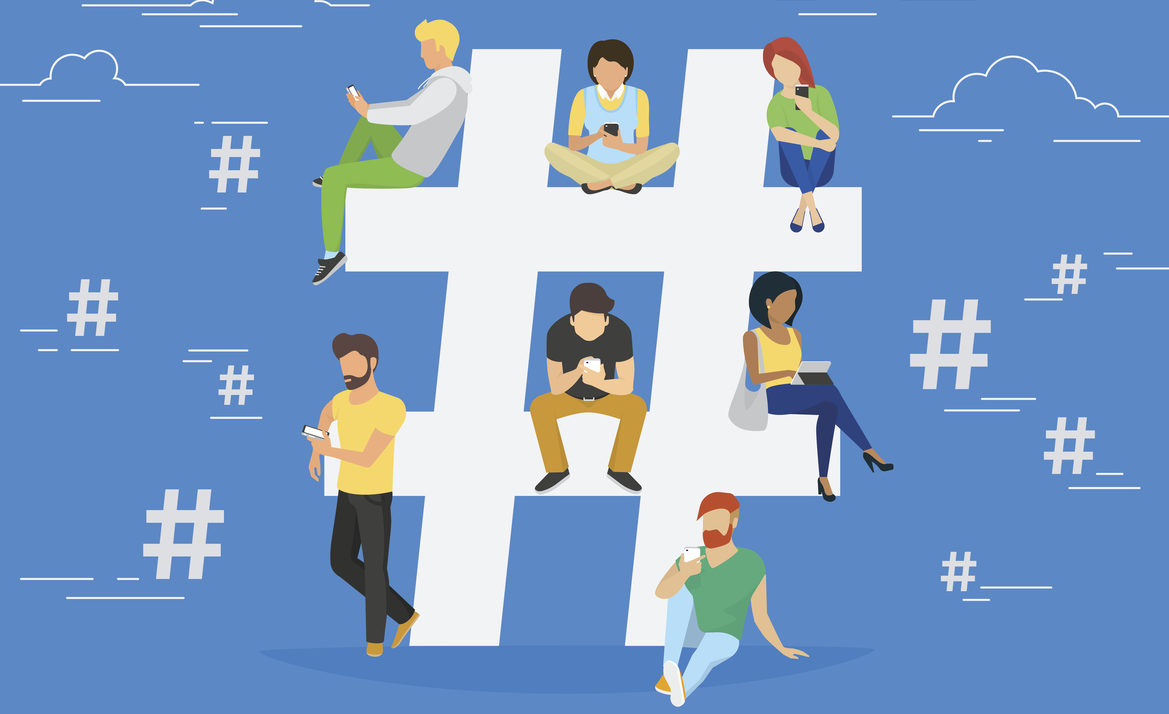 how to create a hashtag for an event on facebook