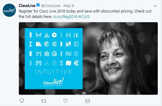 How events trend on Twitter - CiscoLive