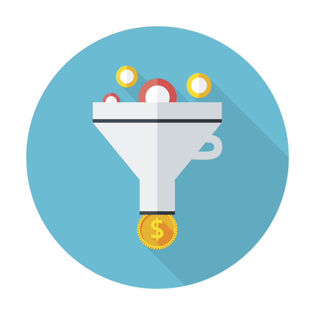 Funnel of demand gen results content