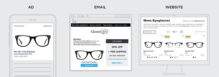 advertisements with eyeglasses