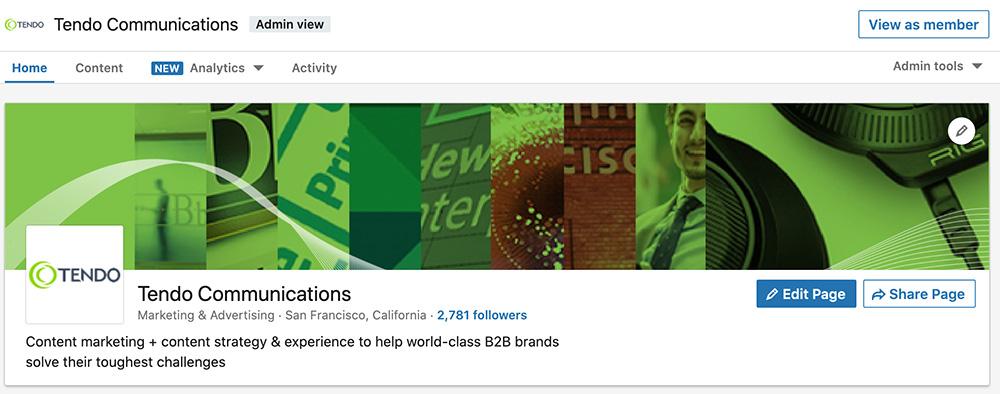 Tendo Communications LinkedIn company page main banner image