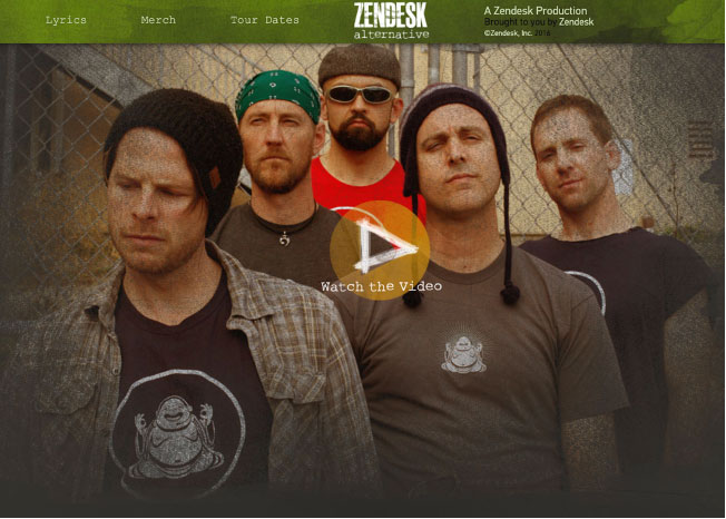 Zendesk video with its fake, humorous musical group